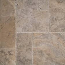 Versailles Tile Pattern Travertine by Ms International Silver Pattern Honed Unfilled Chipped Brushed
