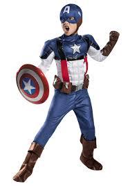 Boys Retro Captain America Prestige Costume