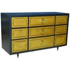 1950s Ebonized Mahogany Robsjohn Gibbings Style Dresser Credenza