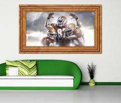 3d wandtattoo american football touchdown sport selbstklebend wandbild sticker wohnzimmer wand aufkleber 11k307 3dwandtattoo24 de
