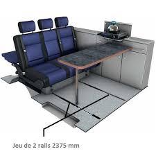 reimo set kit rail pour banquette arrière siège trafic fourgon aménagé