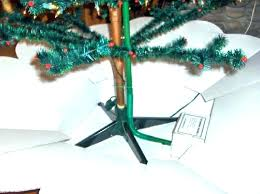 Gorgeous Firm Tree Stand For Real With Green Bucket And Round Base Metal Best Xmas Christmas