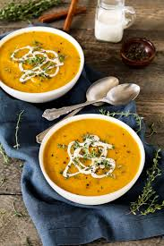 Spicy Pumpkin Butternut Squash Soup by Vegan Roasted Butternut Squash Soup Vegan Huggs