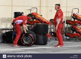100 Tire By Mark BAHRAIN INTERNATIONAL CIRCUIT BAHRAIN APRIL 07 Ferrari