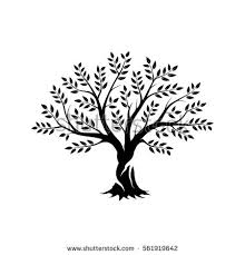Olive tree silhouette icon isolated on white background Web infographic modern vector sign Premium