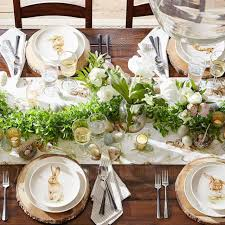 15 Stylish Easter Table Decor Ideas | HGTV's Decorating & Design ... Easter At Pottery Barn Kids Momtrends Easy Diy Inspired Rabbit Setting For Four Entertaing Made 1 Haing Basket Egg Tree All Sparkled Up Tablcapes Table Settings With Wisteria And Bunny Palm Beach Lately Brunch My Splendid Living Toscana Designs