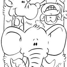 Printable Coloring Pages Jungle Animals