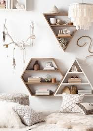 Featuring Natural Colors And Clean Lines Geometric Wall Shelves Yield Center Stage To The Items Stored Within Remove Antlers It Does Not Go With