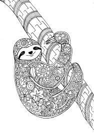 Flower Sloth A Page From My New Art Therapy Coloring Book Animal Dreamers Please Check It Out Here