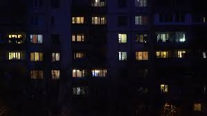 time lapse of lights and activities in residential building