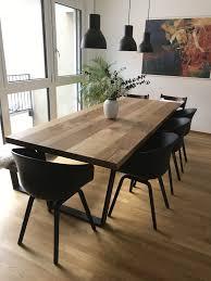 esstisch mit schwarzen stühlen design esstisch tisch