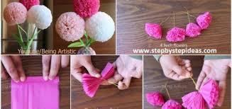 How To Make Round Tissue Paper Flower