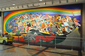 Denver International Airport Murals Pictures by Tattered Cover Next Exit Travel