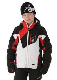 spyder f13 boys leader jacket white black volcano