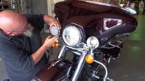 ledlights 2850 motorcyle driving passing light install
