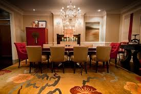 Red And Gold Dining Room With Chinese Influences