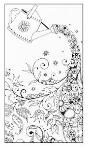 Free Coloring Page Adult Magical Watering Can