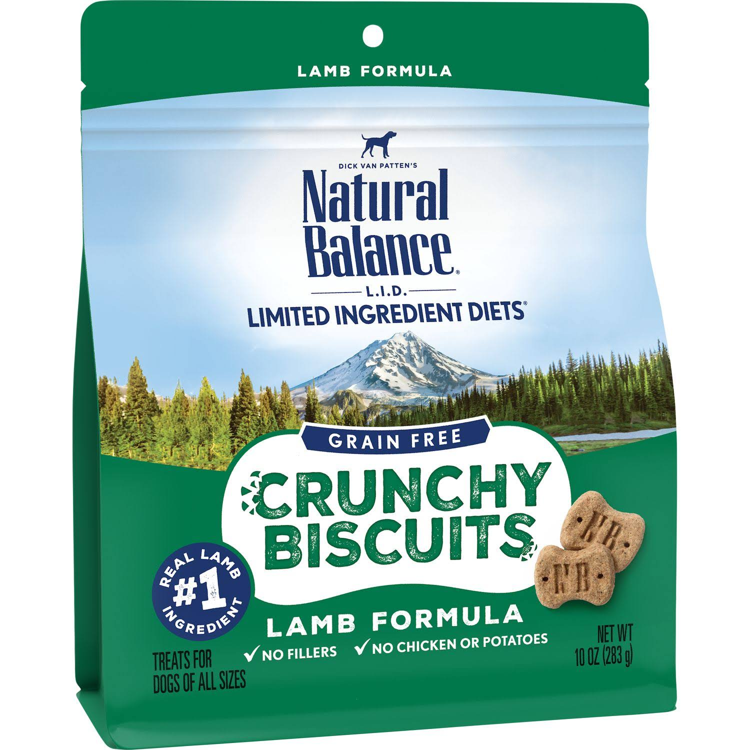 Natural Balance L.I.D. Limited Ingredient Diets Crunchy Biscuits Lamb Formula Dog Treats 10oz