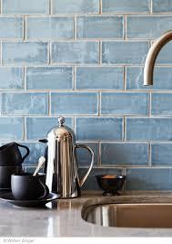 kitchen backsplash blue subway tile
