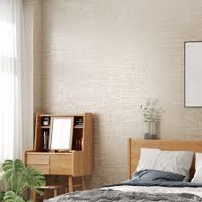 moderne strukturierte tapete weiß grau beige einfarbig wand papier schlafzimmer wohnzimmer wohnkultur