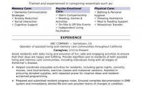 Sample Resume For Caregiver Position Elderly Unique Download Samples