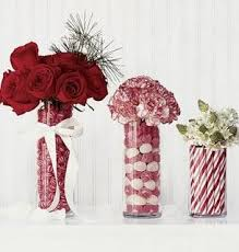 Holiday Decorations Can Be Recycled For Winter Wedding Decor Here Are Some Ideas We Stole From Candy Flower Vases Fill