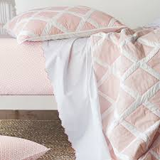 Serena & Lily's Pink Diamond Quilt Standard Sham With Pink Scallop ... Lime Green And Black Bedding Sweetest Slumber 2018 My New Royal Blue Navy Sets Twin Comforter Comforter Amazoncom Room Extreme Skateboarding Boys Set With 25 Unique Star Wars Bed Sheets Ideas On Pinterest Love This Rustic Teen Gallery Wall Map Wood Is Dinosaur For The Home Bedding New Pottery Barn Kids Vintage Little Trucks Sheet Sheets Twin Evergreen Forest Quilt Trees Adorn Rustic 78 Best Baby Ideas Images Quilts Dillards Collections Quilts Comforters Buyer Select