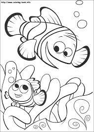 Coloring Page Php Epic Finding Nemo Book