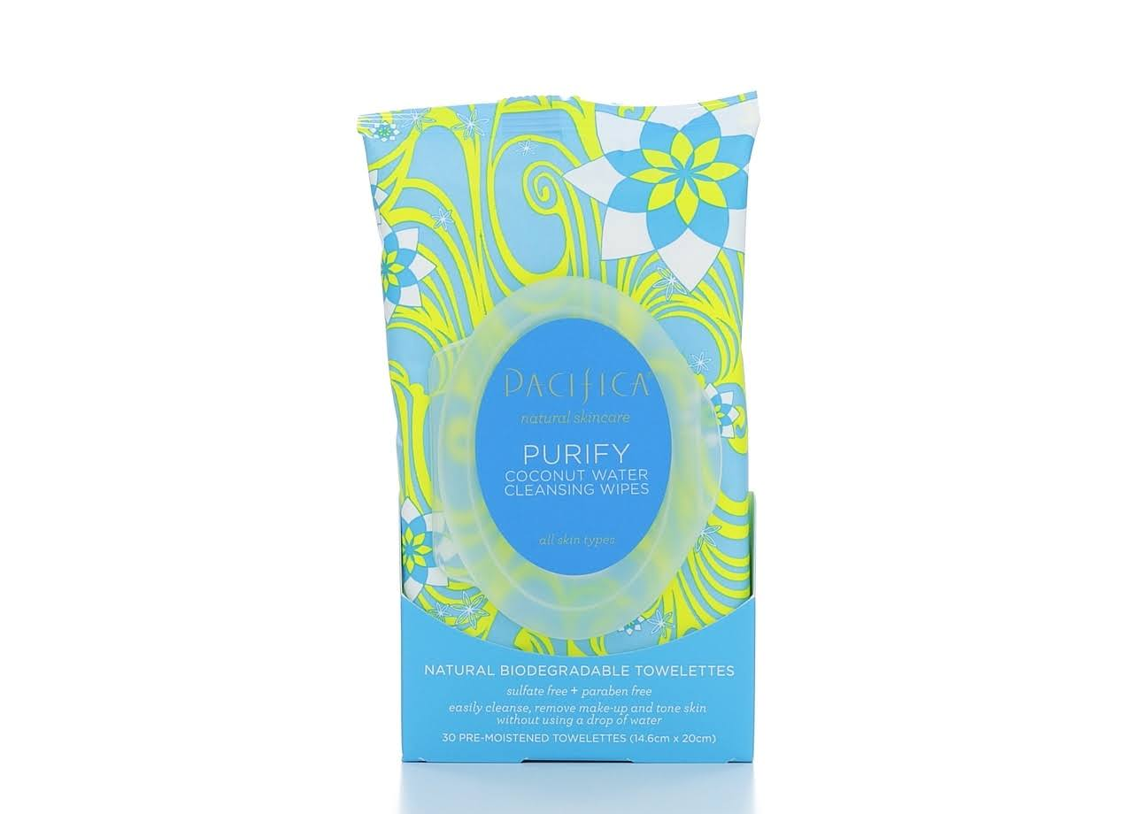 Pacifica Purify Coconut Cleansing Wipes - 30ct
