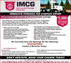 100 Intermodal Trucking Jobs Company Driver Cartage Company