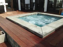Ipe Deck Tiles Toronto by Spa With Poured In Place Concrete Coping Ipe Wood Deck And