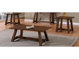 Bernards Winslow 3-Piece Occasional Table Set With Saw Horse Style ...