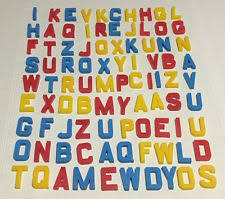 vintage fisher price magnetic letters