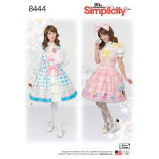 Amazoncom Simplicity Pattern 8444 D5 Misses Lolita Costume For