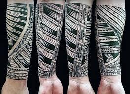 Pattern Polynesian Tribal Guys Forearm Tattoo Designs