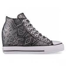 100 Star Lux Converse ALL STAR LUX MID Black Reflectve