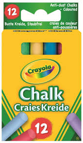 Crayola 281 Anti Dust Assorted Chalk: Crayola: Amazon.co.uk: Toys ...