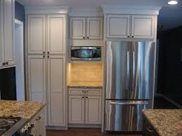 48 Cabinet Depth Refrigerator by Incomparable Kitchen Pantry Cabinet Built In With Stainless Steel