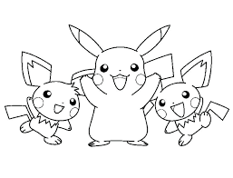 Pikachu Coloring Pages To Print Go Page Free Printable Colouring