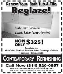 contemporary refinishing tub refinishing st louis mo