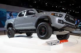 Six Things You Didn't Know About The 2017 Toyota Tacoma TRD Pro Toyota Truck Accsories 4x4 Battle Armor Designs 2016 Tacoma V6 Limited Review Car And Driver Advantage 6001 Surefit Snap Tonneau Cover Ready For Whatever In This Fully Loaded The Begning Amp Research Bedxtender Hd Moto Bed Extender 052015 Rigid Industries 62017 Grille Camburg Eeering Alucab Explorer Canopy Shell Supercharged2002 2002 Xtra Cab Specs Photos Premium Rear Bumper Fab Fours Upgrades Pinterest 2018 Accsories Canada Shop Online Autoeq