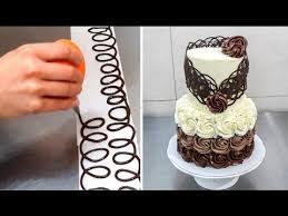 chocolate decoration cake decorando con chocolate by cakes step