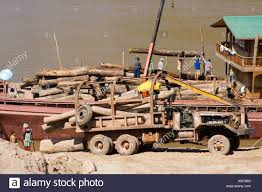 100 Used Log Trucks For Sale Unloading S From Truck And Loading Barge Tha Suang Laos