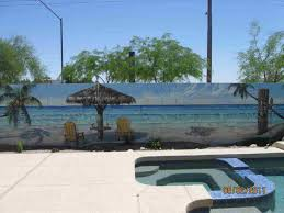 My Backyard Arizona Block Murals I Outdoor Pool Wall Art Am So Doing This In