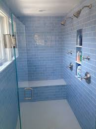 Master Bathroom- Waterworks Fixtures With Blue Glass Tile ... Bathroom Tub Shower Tile Ideas Floor Tiles Price Glass For Kitchen Alluring Bath And Pictures Image Master Designs Paint Amusing Block Diy Target Curtain 32 Best And For 2019 Sea Backsplash Mosaic Mirror Baby Gorgeous Accent Sink 37 Cute Futurist Architecture Beautiful 41 Inspirational Half Style Meaningful Use Home 30 Nice Of Modern Wall Design Trim Subway Wood Bathrooms Seamless Marble Surround