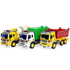 100 Toys 4 Trucks Set Of 3 116 Scale Friction Powered City Vehicle Toy Best