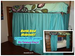 Bunk Bed Hideout with No Sew Curtains iSaveA2Z