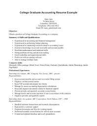 Accounting Students Resume Recent Graduate Badak Present So Sample Cover Letter