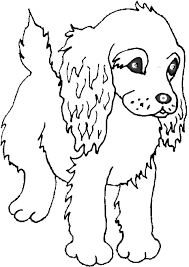 Color This Cute Puppy Coloring Page Of A Cocker Spaniel