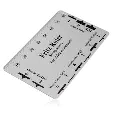 100 Fritz 5 IN STOCKCOD Ruler Guitar String Action Gauge String Pitch Ruler Card Luthier Tool